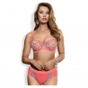 Ray of Light - Coral Sheer Bra Plus Sizes