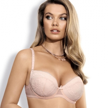 Bras  Whisper - Apricot Padded Push up Bra