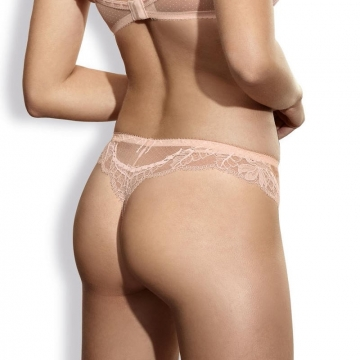 Whisper - Apricot Lace Thongs