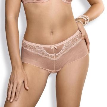 Panties Whisper - Powder Pink Lace Sheer Hipster Panties