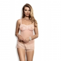 Whisper - Powder Pink Sheer Lace Pajama