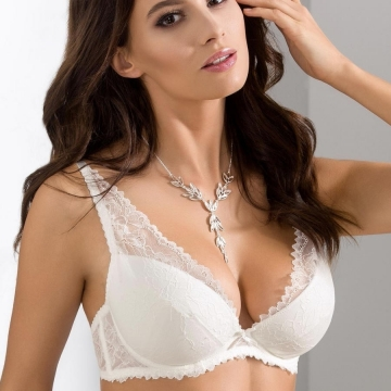 Bras  Quince - Light Cream Lace Push up Bra
