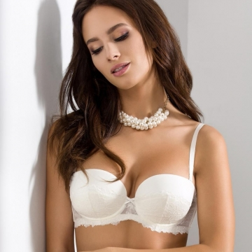 Bras  Quince - Light Cream Padded Balconette Bra