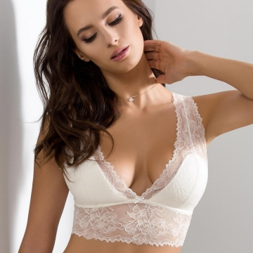 Bras  Quince - Light Cream Lace Padded Bralette