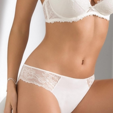 Quince - Light Cream Lace Thongs
