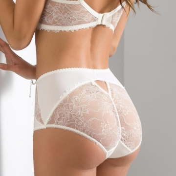 High Waist Briefs Quince - Light Cream Lace High Waist Brief