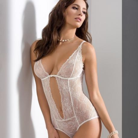 Quince - Light Cream Lace Bodysuit