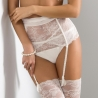 Quince - Light Cream Lace Garter Belt