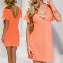Sweetie - Apricot Short Sleeve Chemise