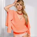 Sweetie - Apricot V-Neck Top