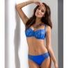 Blueberry - Blue Lace Demi Padded Bra