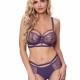 Miami Vibe Purple - Sheer Strappy Balconette Bra