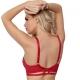 Miami Vibe Red - Sheer Strappy Balconette Bra