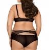 Miami Vibe Black - Sheer Lace Garter Belt