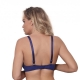 Miami Vibe Blue - Sheer Balconette Bra