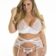 Full Figure White Lace Bra