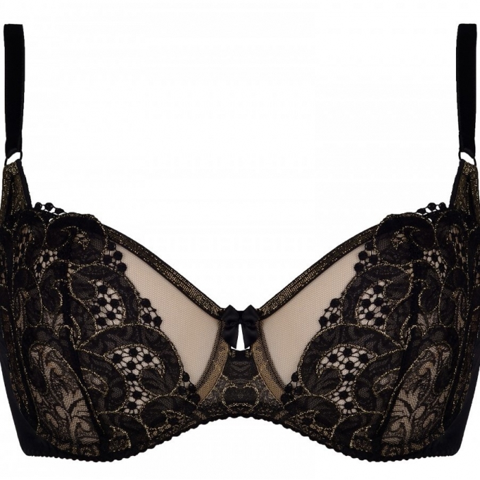 Ventian Mirror - Lace Black Unlined Bra