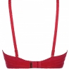 Venetian Mirror 3 - Red Strappy Sheer Lace Balconette Bra