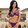 Venetian Mirror 4 - Purple Strappy Lace Sheer Balconette Bra