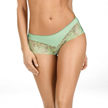 Mint - Green Sheer Hipster Panties: S