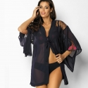Blue Ink - Sheer Robe: M