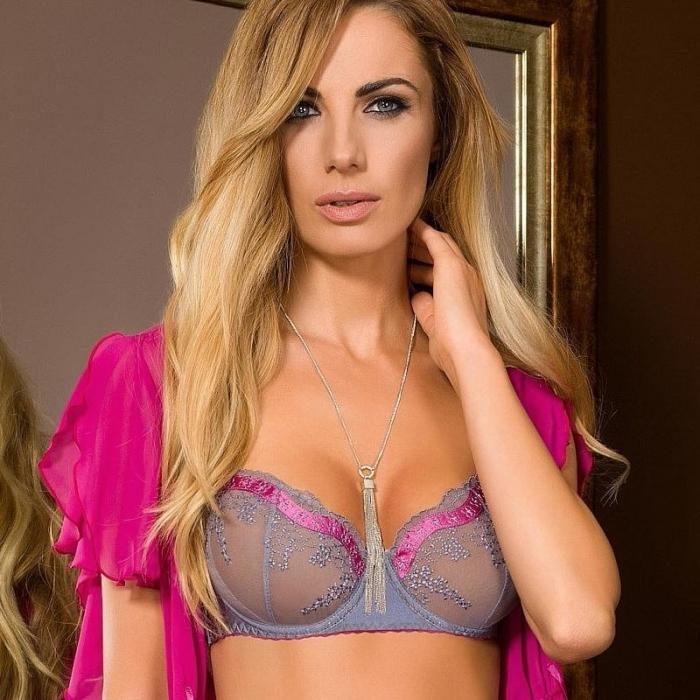 Colette - Lace Balconette Bra: 36DDD