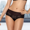 Lily - Black Lace Hipster: XXL