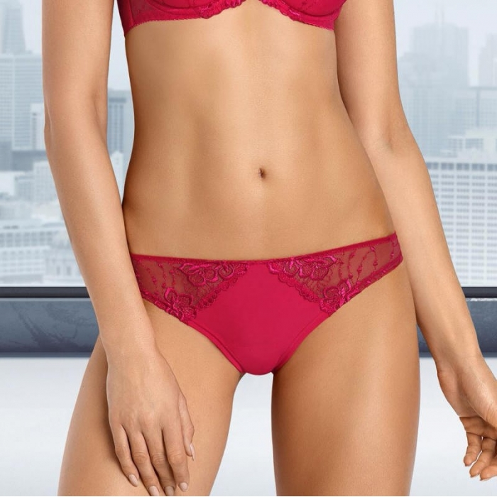 Salma - Red Sheer Thongs: M