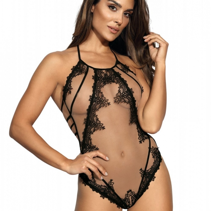 Hot Sevilla - Mesh Lace See Through Bodysuit 1