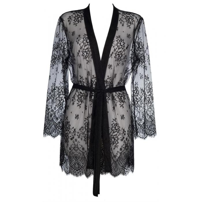 Sky is The Limit - Black Sheer Luxury Robe