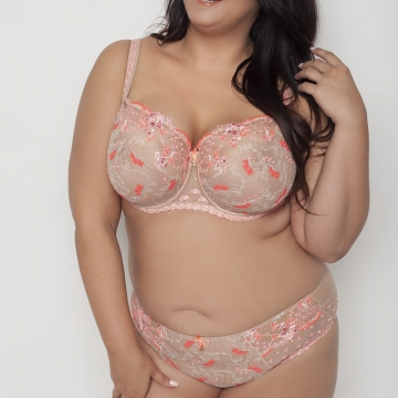 Amor - Neon Apricot Unlined Bra Plus Sizes