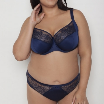Cziczi - Navy Blue Unlined Bra Plus Sizes