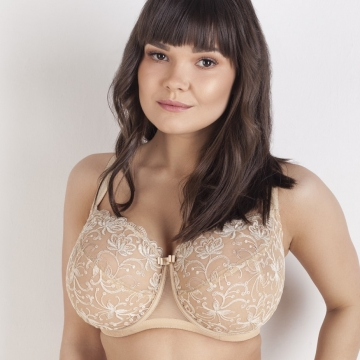 Sheer Bras Gardenia - Beige Full Coverage Bra Plus Size