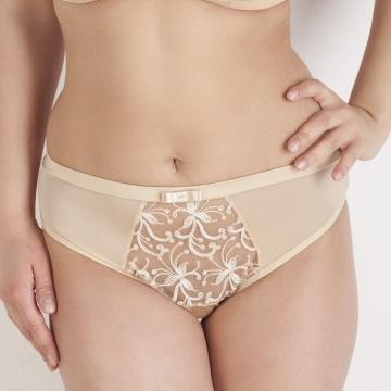 Gardenia - Beige Sheer Bikini Panties