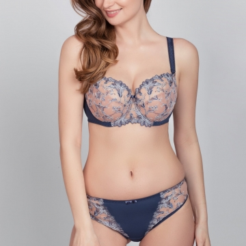 Adora - Ink Blue Demi Unlined Bra Plus Sizes