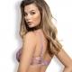 Lavender - Lilac Sheer Balconette Bra