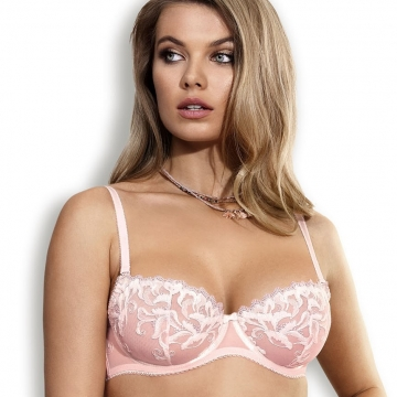 Unlined Bras Cindirella - Powder Pink Unlined Balconette Bra