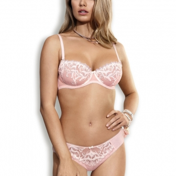 Cindirella - Powder Pink Unlined Balconette Bra