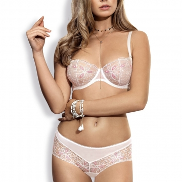 Candy - White Unlined Balconette Bra