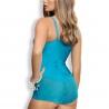 Twist - Turquoise Push up Bodysuit