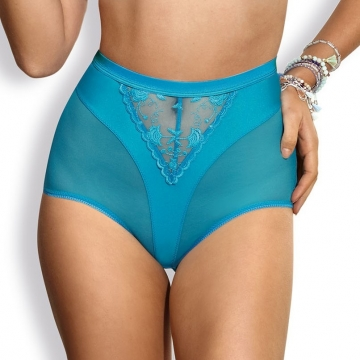 Twist - Turquoise High Waist Brief