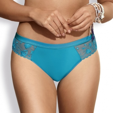 Twist - Turquoise Thongs