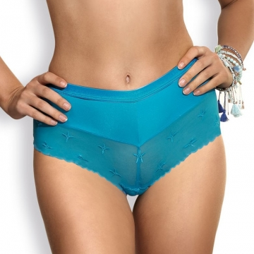 Twist - Turquoise Hipster Panties