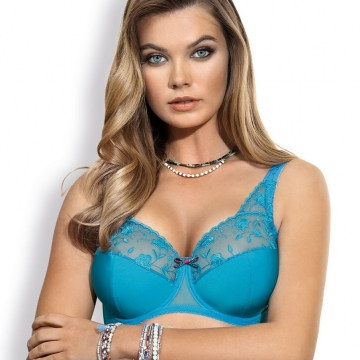 Unlined Bras Twist - Turquoise Plus Size Unlined Bra