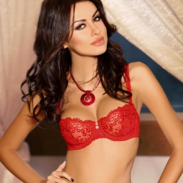 Roxana - Sexy Red Sheer Balconette Bra