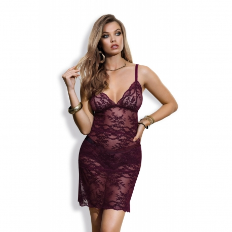 Eden - Burgundy Lace Nightie