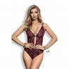 Eden - Burgundy Lace Bodysuit