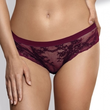 Eden - Burgundy Lace Thongs