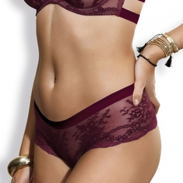Eden - Burgundy Lace Hipster Panties