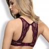 Eden - Burgundy Lace Push up Bra